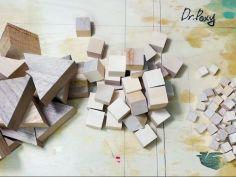 레진과 나무조각으로 만든 마인크래프트 레진 월드입니다.